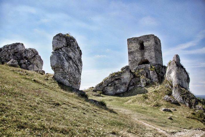 Szlak orlich gniazd Olsztyn - wieża kwadratowa